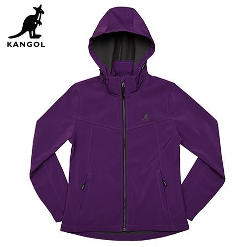 【英國KANGOL】保暖貼合外套-女款-紫色/