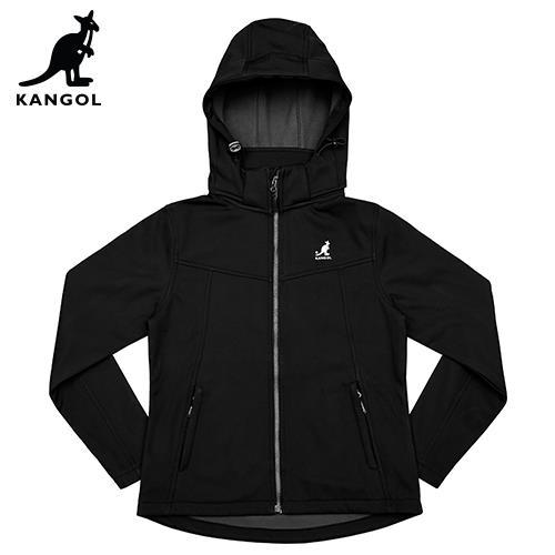 【英國KANGOL】保暖貼合外套-女款-黑色/