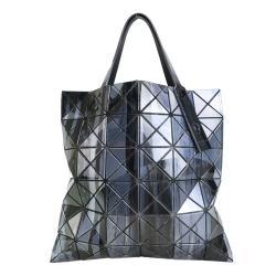 ISSEY MIYAKE 三宅一生BAOBAO  GRAVITY PAINT 潑墨石紋設計 6X6手提包-黑