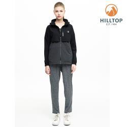 【hilltop山頂鳥】女款輕量WS防風超潑水彈性抗UV外套H22FV0黑美人