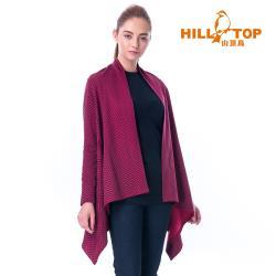 【hilltop山頂鳥】女款保暖緹花刷毛外套H22FU4擬粉色