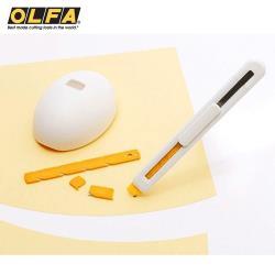 日本製OLFA兒童安全美工刀ESK-1(右左手皆適;附拆刃器兼刀架;品番236BS)小朋友兒童美工刀切割刀安全刀具