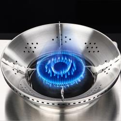 PUSH!廚房用品不銹鋼瓦斯爐防風罩聚火節能防風罩天燃氣爐支架D205