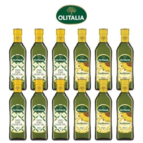 奧利塔純橄欖油500毫升*6罐、奧利塔頂級葵花油500毫升*6罐/