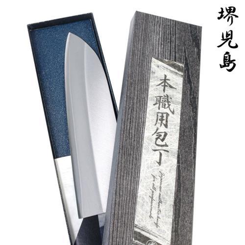 日本堺兒島手工廚房三德刀165mm三德菜刀T-00028(VG-1不鏽鋼/耐磨耐腐蝕;日本職人高橋楠Takahashikusu代工/手工製造)