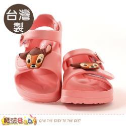 魔法Baby 女童鞋 台灣製迪士尼小鹿斑比授權正版極輕量涼鞋~sd3055