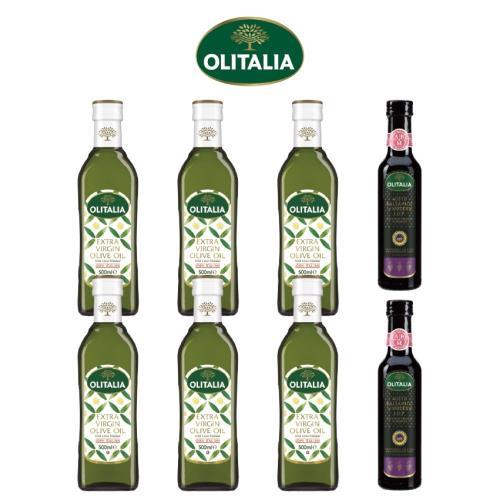 奧利塔特級初榨橄欖油500ml*6罐+奧利塔摩典那巴薩米克醋250ml*2罐/