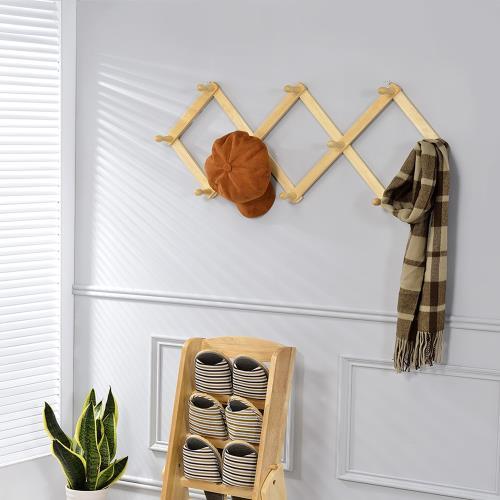 [傢俱屋]安家壁掛伸縮依架 掛衣架
