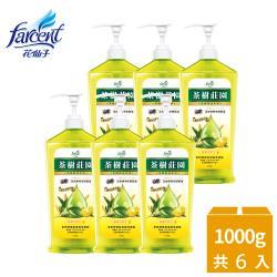 茶樹莊園 超濃縮洗碗精1000gX6入-茶樹檸檬