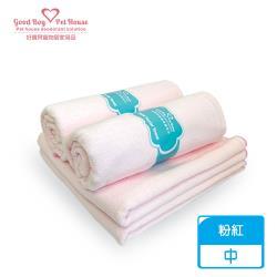 【好寶貝】超柔潔膚毛巾 寵物專用30*60cm 粉紅 透氣/吸水/細緻/速乾/耐用/擦車/居家清潔/奈米技術/超細纖維