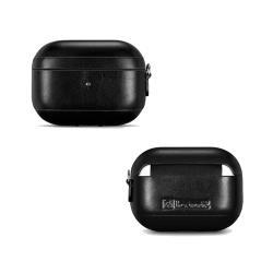 ICARER 復古系列 Apple AirPods Pro 側耳掛繩 手工真皮保護套 蘋果無線耳機 收納保謢套