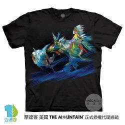 摩達客(預購)美國進口The Mountain 印地安急降 純棉環保藝術中性短袖T恤-4XL-5XL