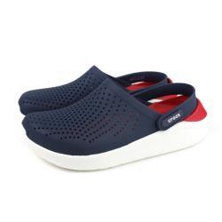 Crocs 休閒鞋 涼鞋 防水 深藍/紅 男女鞋 204592-4CC no023