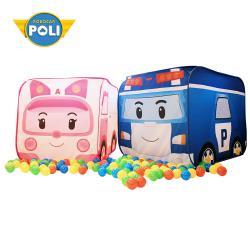【NUNUKIDS】Poli 波力球池帳篷二合一遊戲屋(含100顆遊戲球) - 超值 2 入組