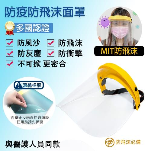 MIT全面防飛沫面罩
