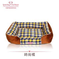 好寶貝 GBPH美式經典格紋寵物床 時尚橘 睡床/防潮/柔軟/暖和/耐磨/床墊窩/耐抓咬/全可拆洗