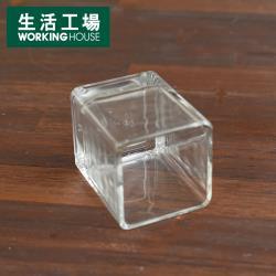 【生活工場】晶透方型小燭杯