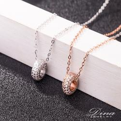 【DINA 蒂娜珠寶】滿鑽小環 925純銀CZ鑽石頸鍊(LYJ21728)