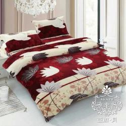 AGAPE亞加‧貝 MIT台灣製-花香笙歌 舒柔棉單人4.5x6.5尺薄被套(百貨專櫃精品)