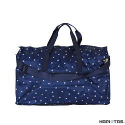 Traveler Station-HAPI+TAS 摺疊圓形旅行袋(大)-401深藍躲貓貓
