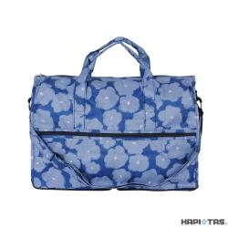 Traveler Station-HAPI+TAS 摺疊旅行袋(小)-392深藍塗鴉花朵