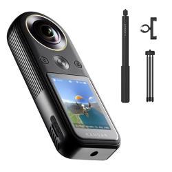 KANDAO 看到科技 QooCam 8K 360度 全景相機 攝影機+自拍棒套組(公司貨)