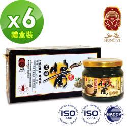 弘益傳香世家 100%純黑芝麻醬250g*6入組