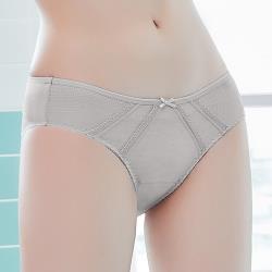 【easybody】白日夢女孩 中低腰三角褲(優雅灰)