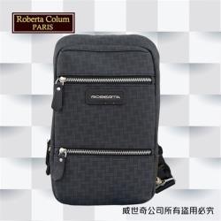 (Roberta Colum)諾貝達百貨專櫃 男仕背包 側背包 胸包(8901黑色)