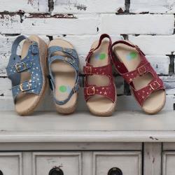 洋森生活-MIT兩穿星星機能涼鞋-2色#YS710
