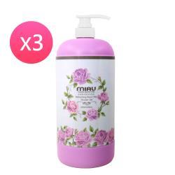 MIAU  精油香氛沐浴乳(玫瑰)3入