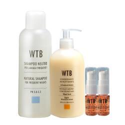 【WTB 昂賽芙】洗髮精1000ml+小麥潤髮乳500ml+免沖洗亞麻籽護髮油10mlx2