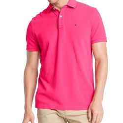 Tommy Hilfiger 2020男時尚經典紅莓色短袖POLO