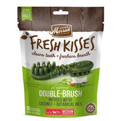美國 Merrick Fresh Kisses Mint Double 麻立清新之吻潔牙骨 - 椰子油+草本精華 (11-23公斤犬適用)M-大包裝