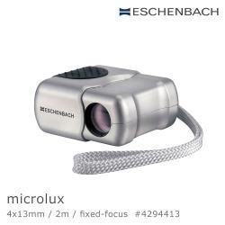 德國 Eschenbach microlux 4x13mm 德國袖珍免調焦型單眼望遠鏡 4294413 (公司貨)