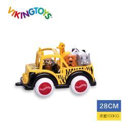 【瑞典 Viking toys】Jumbo動物吉普車-28cm