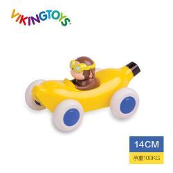 【瑞典 Viking toys】動物賽車手-香蕉猴子-14cm
