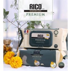 韓國RICO baby金盞花有機天然特厚款濕紙巾(Premium70片裝18入)