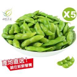 【神農良食】農業奧斯卡原味毛豆_5包組_(400公克±10公克/包)
