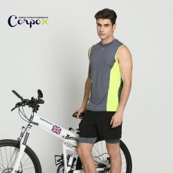 【Corpo X】男款高彈羽量快乾背心(2色可選)