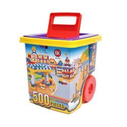 【 台製我高積木 】# 568 OK積木拉桿箱益智基本顆粒積木組 / 500 pcs