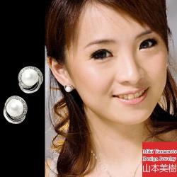 山本美樹 千迴 貝珠奧地利水晶針式耳環(MIT)