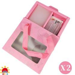 MOM'S【olina】SOFF 口罩減壓護套-乾燥玫瑰+收納夾~寵愛媽咪禮盒-2盒組