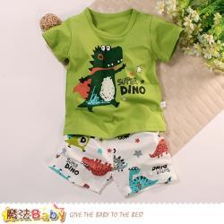 魔法Baby 男童裝 春夏清涼彈性舒適短袖套裝~k51390