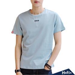 HeHa-特殊布紋短袖T恤上衣 三色