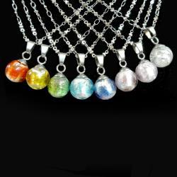 AK~香氛珠寶-簡約甜美 銀箔糖心球精油香氛項鍊/聞香鍊飾品