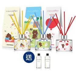 韓國cocodor熊大與好友們系列擴香瓶200ml(3入組合加贈擴香補充瓶2入)