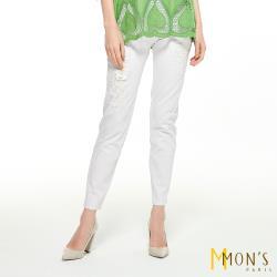 MONS華貴唯美立體花瓣彈性長褲