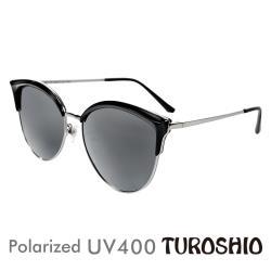 Turoshio TR90 偏光太陽眼鏡 貓眼混框 午夜黑 K1803 C1C
