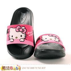 魔法Baby 女童鞋 Hello kitty正版美型拖鞋~sk1015